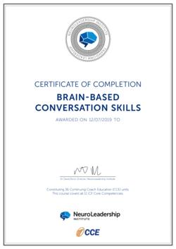 Sample - BBCS Certificate